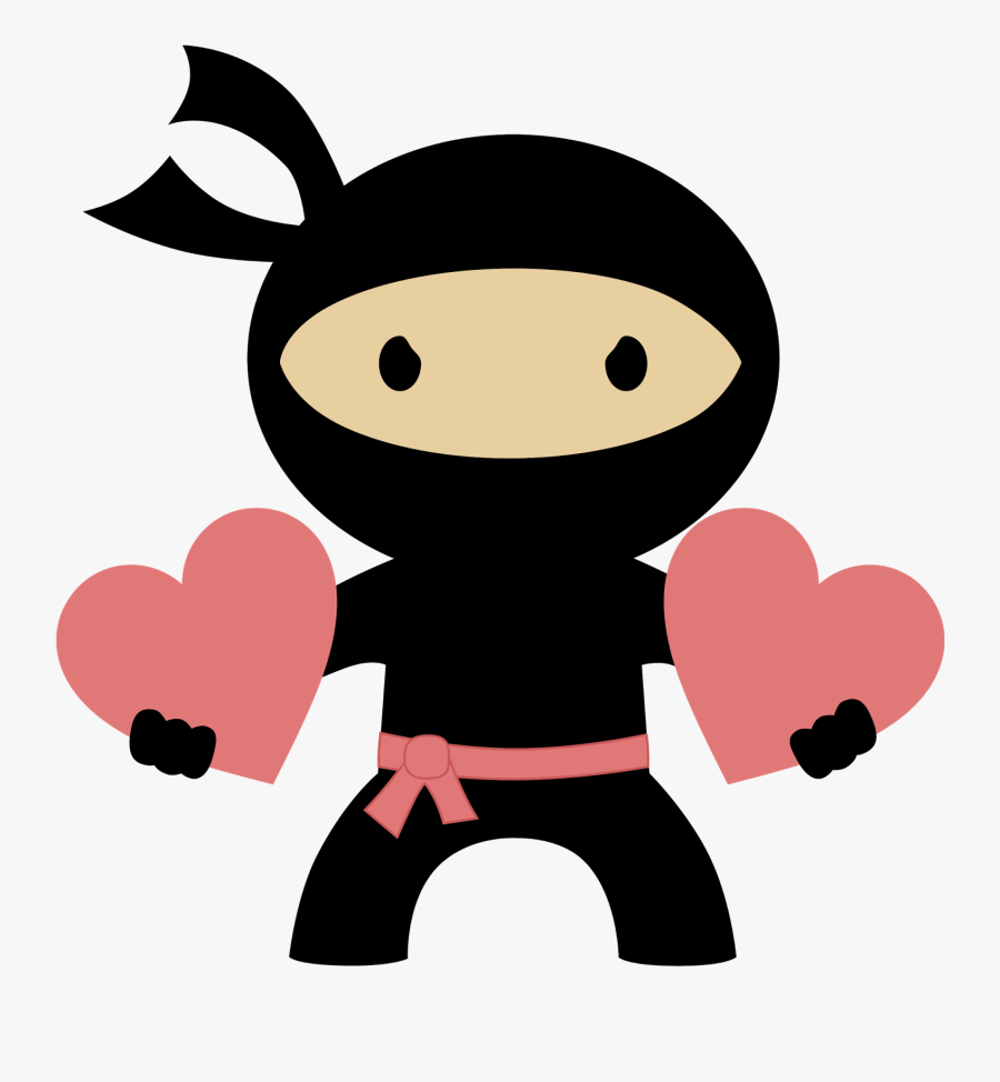 Ninja Party Clipart Download - Ninja Valentine Clipart, Transparent Clipart