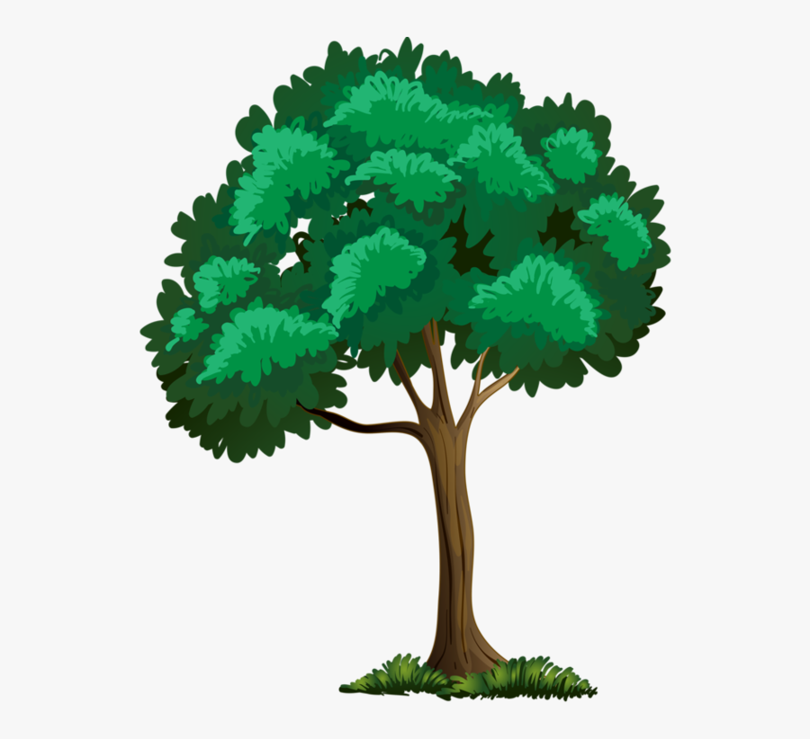 Trees And Flowers Clipart, Transparent Clipart