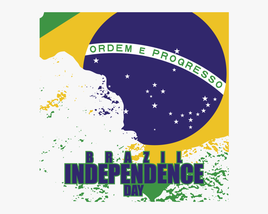 Clip Art Independence Day Brazil - Flag Of Brazil, Transparent Clipart