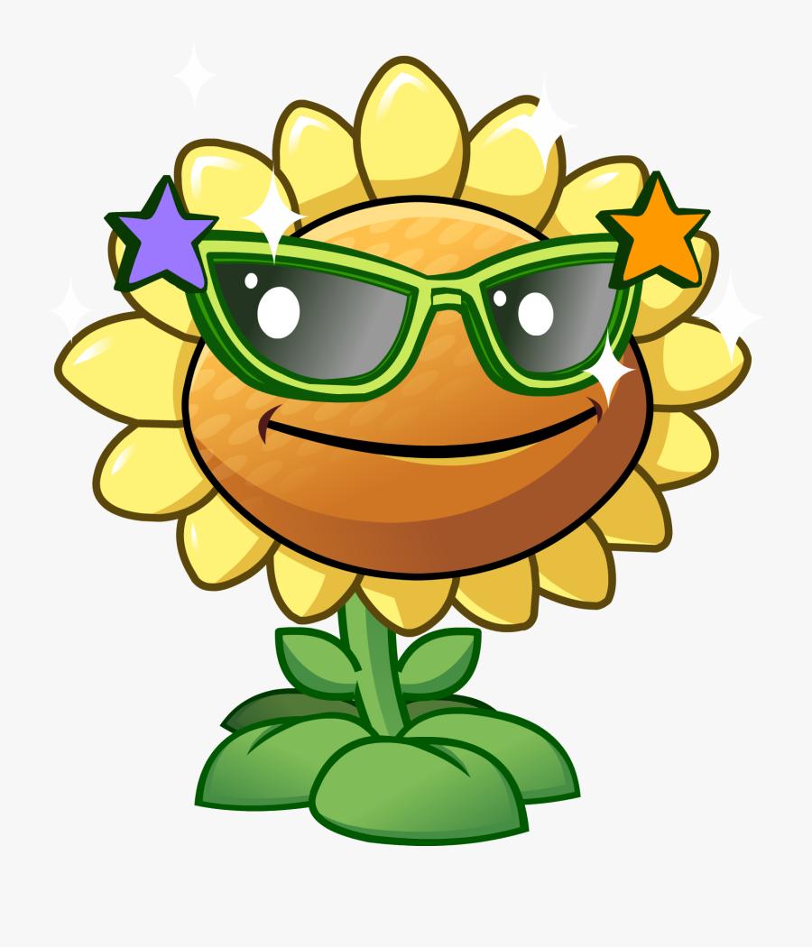 Transparent Zombies Clipart - Plants Vs Zombies 2 Sunflower, Transparent Clipart