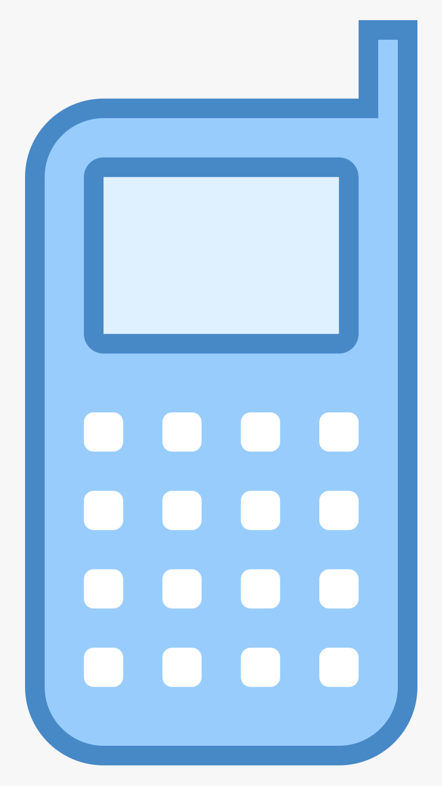 Cell Phone Icon Free Png And Svg Download Blue Mobile Icon Png Free Transparent Clipart Clipartkey