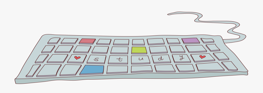 Laptop Numeric Keypad Cartoon - Keyboard Cartoon Computer, Transparent Clipart