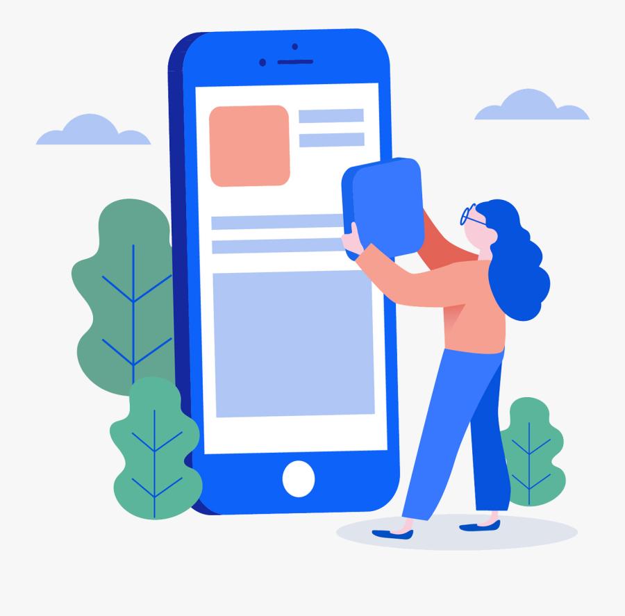 Mobile App Development Services - Mobile App Illustration Png, Transparent Clipart