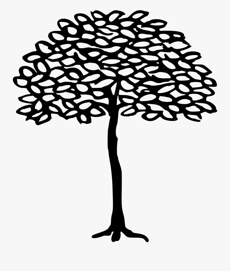 Clipart - Line Drawing Simple Tree, Transparent Clipart