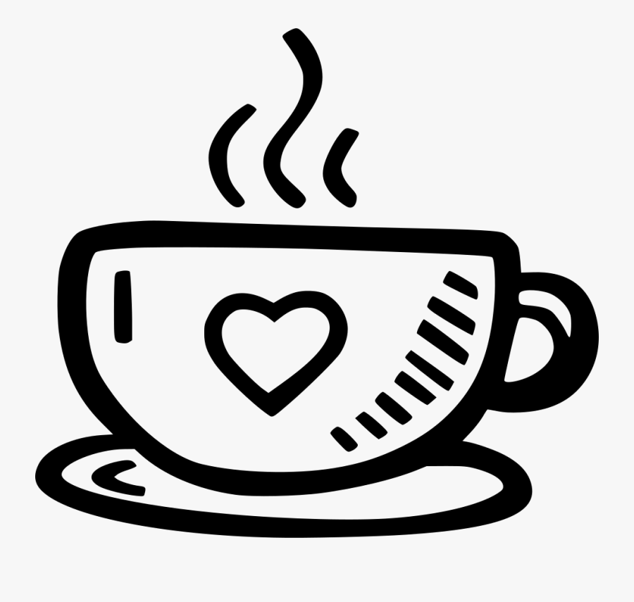 Line Art,cup,coffee Cup,clip Art,drinkware,coloring - Cup Of Tea Icon, Transparent Clipart