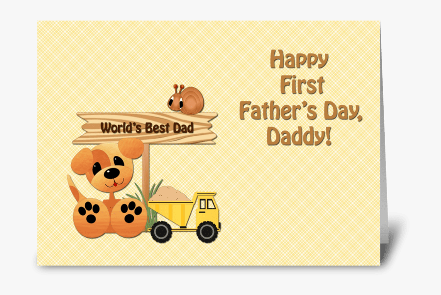 Father`s Day Clipart First - Happy First Fathers Day, Transparent Clipart