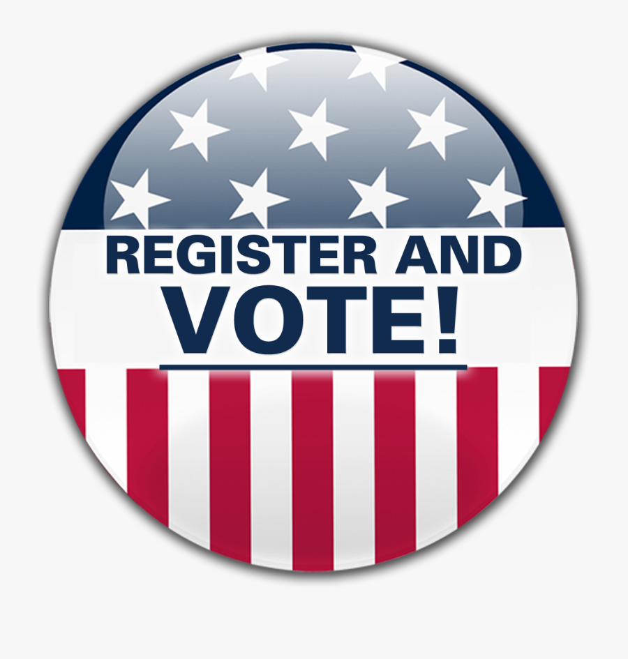 Register To Vote Circle Png Clipart - Register And Vote Button, Transparent Clipart