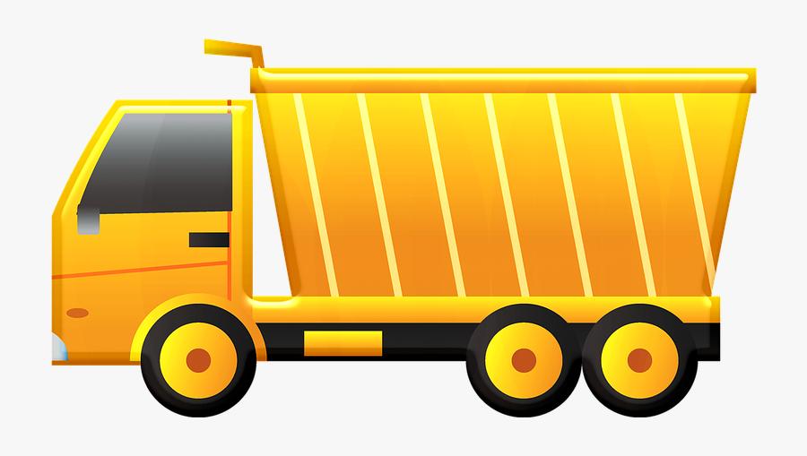 Transparent Dump Truck Clipart - Dump Truck Hd Transparent, Transparent Clipart