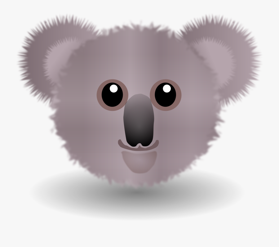 Rodent,head,koala - Cartoon Koala Face, Transparent Clipart