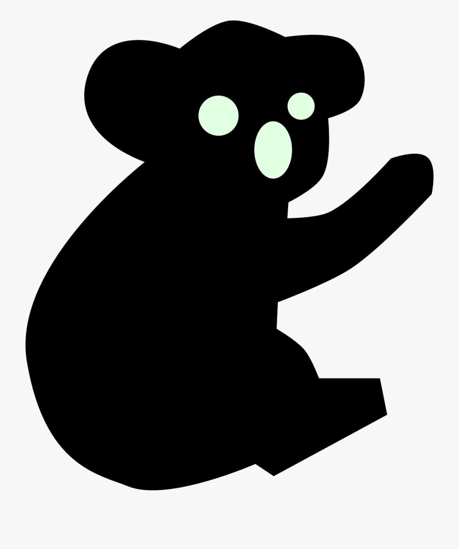 Koala - Koala Silhouette, Transparent Clipart