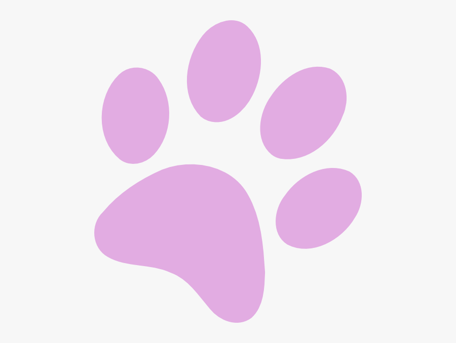 Dog Paw Print Png - Dog Paw Print Purple, Transparent Clipart