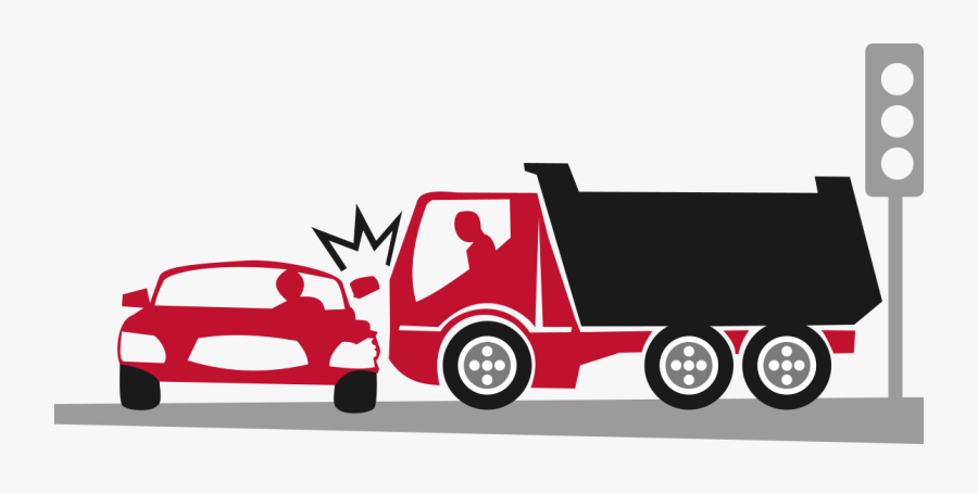 Transparent Dump Truck Clipart - Car And Truck Crash Clipart, Transparent Clipart
