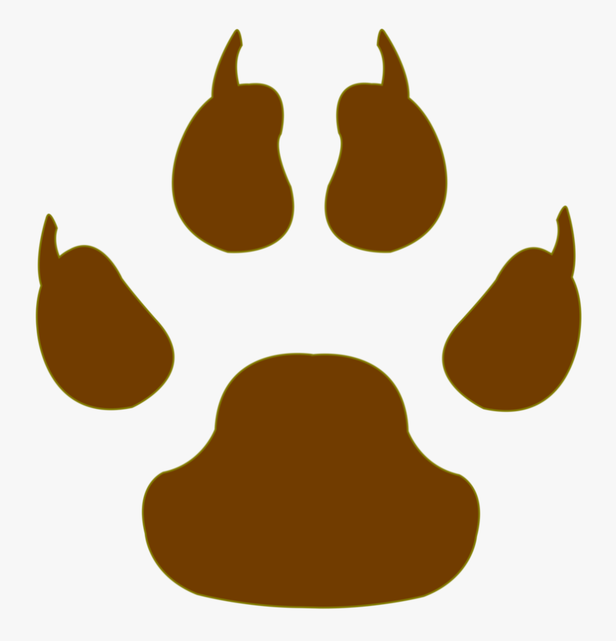 Vector Cm Tiger Paw By Barrfind - Wolf Paw Print Vector, Transparent Clipart