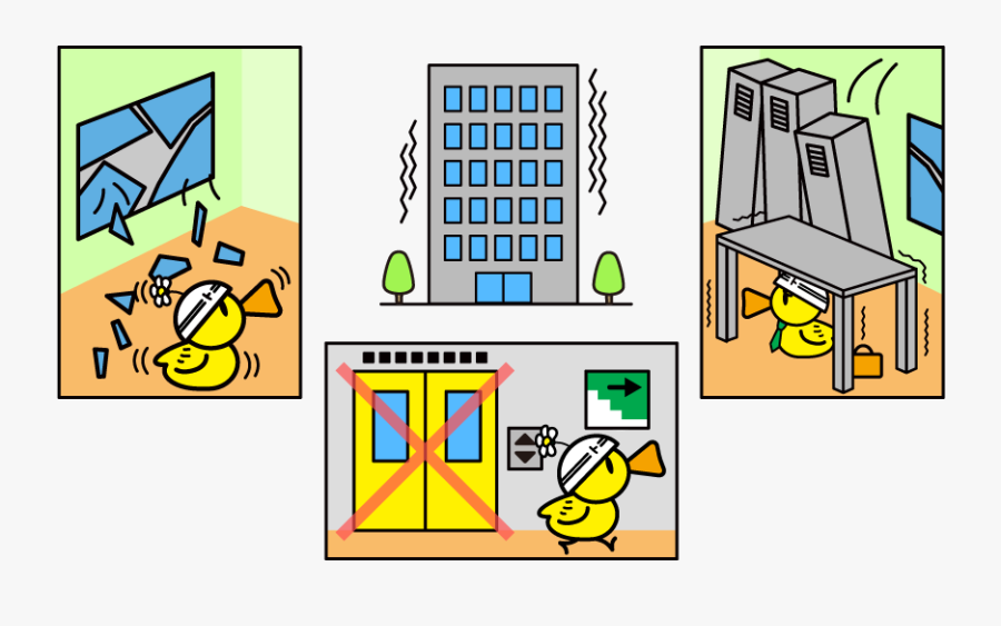 Be Ready To Evacuate - Falling Objects Earthquake Clipart, Transparent Clipart
