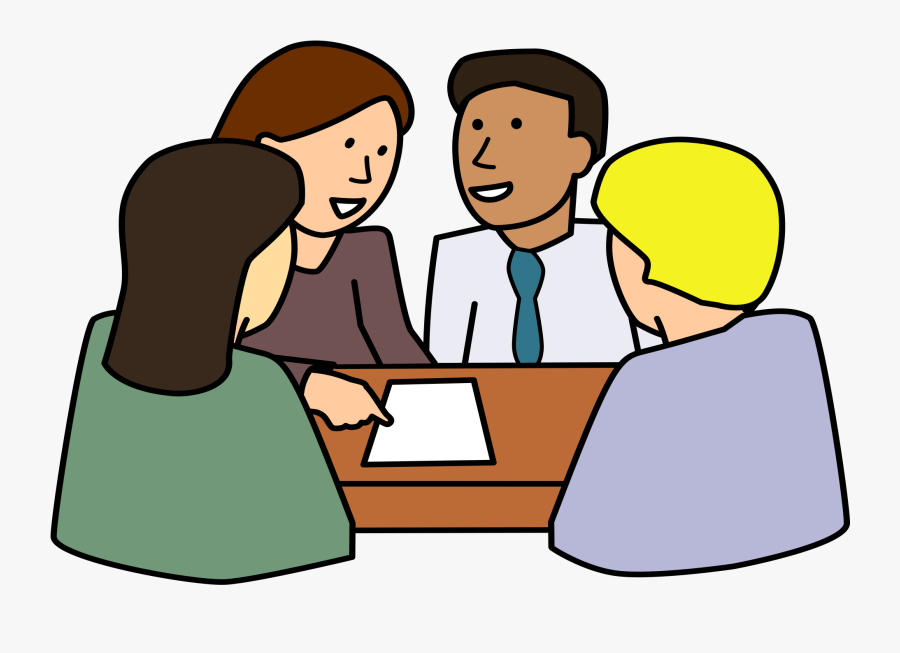 Diverse High School Council Graphic Library Stock - Group Working Together Clipart, Transparent Clipart
