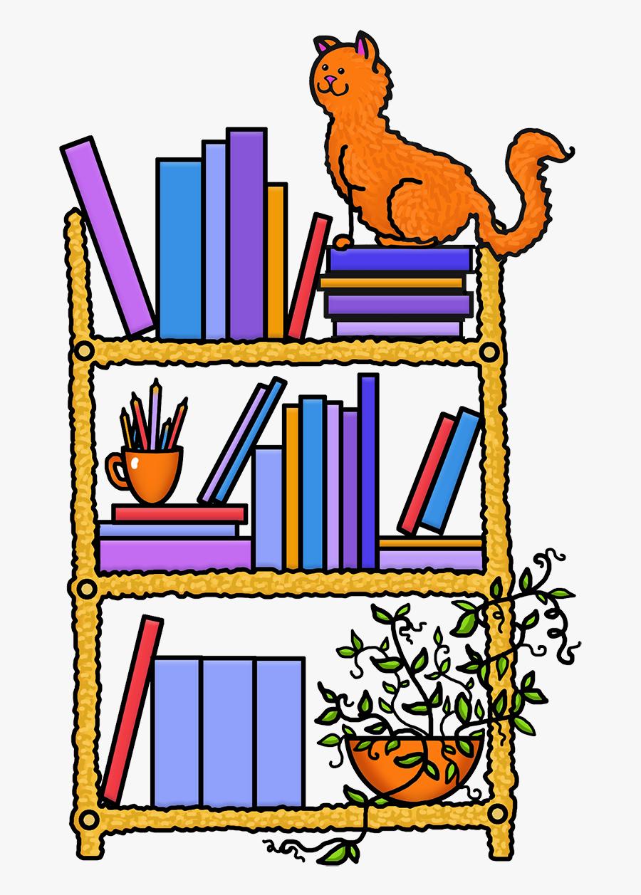 Book Shelf Color Png Hatfield Public Library Jpg Black - Book On Shelf Cartoon Clipart, Transparent Clipart