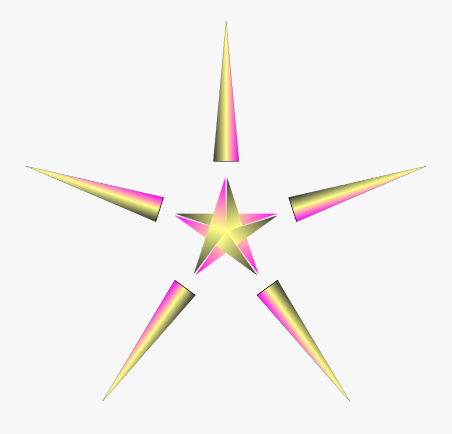 Clipart Christmas Star With Pulsing Colors - Pink Christmas Star Png Transparent, Transparent Clipart