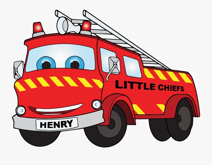Transparent Fire Truck Clip Art - Cartoon Fire Truck Png, Transparent Clipart