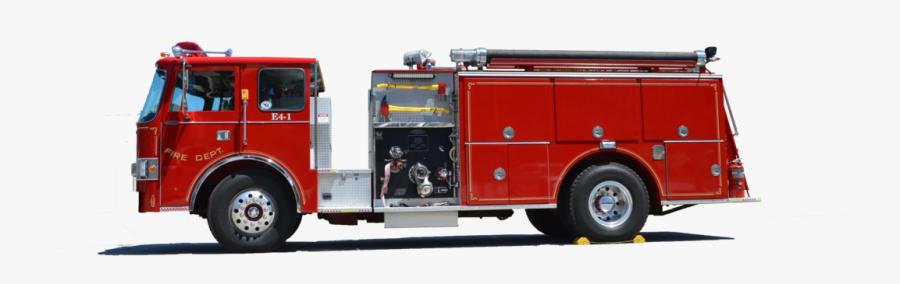 Firetruck Png - Coche De Bombero Png, Transparent Clipart