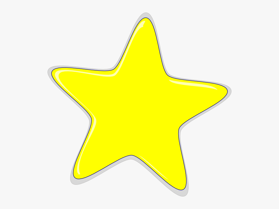 Yellow Star Blank Background, Transparent Clipart
