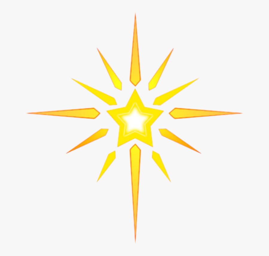 Transparent Nativity Star Png - Bethlehem Star Clip Art, Transparent Clipart