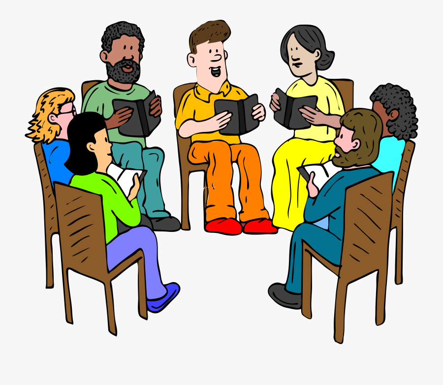 Talking Clipart Book Group - Group Of People Talking Clipart, Transparent Clipart