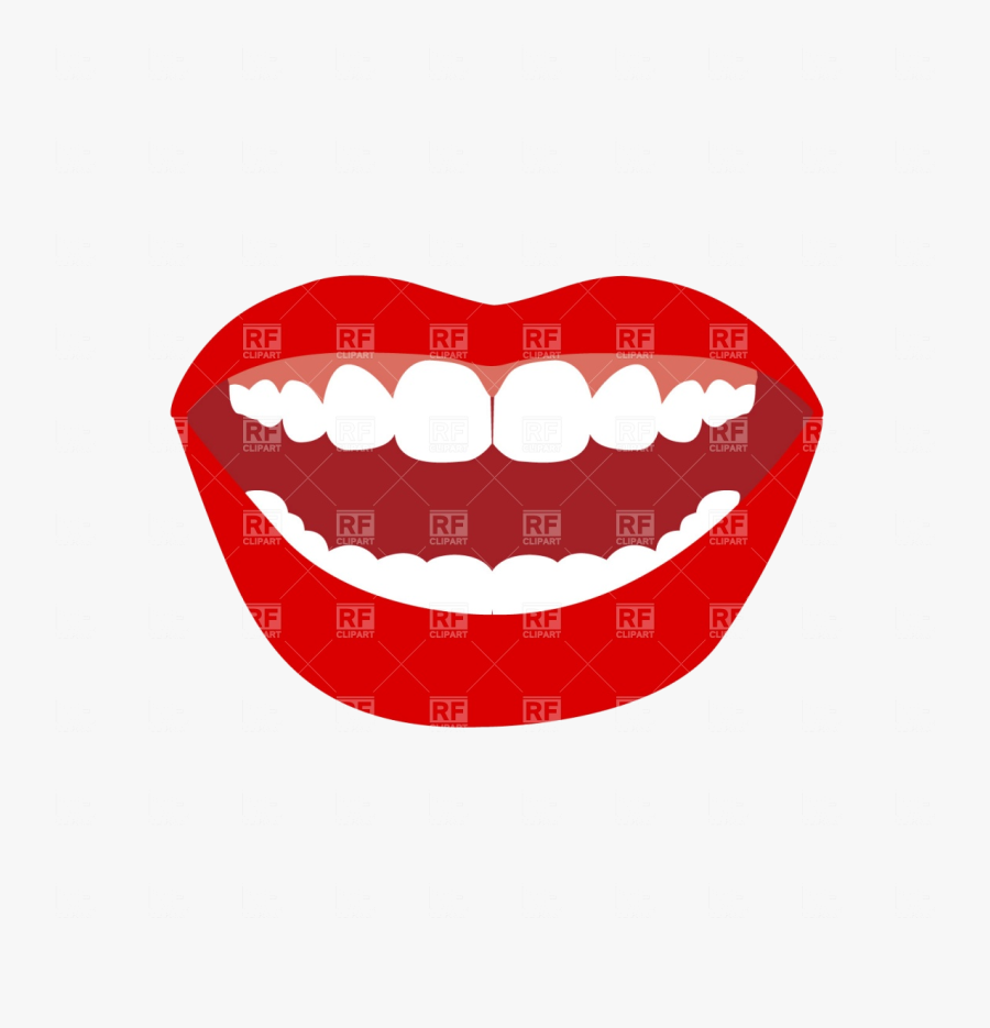 Mouth Opened With Lips Gum And Teeth Vector Image Illustration - Open Mouth Clip Art, Transparent Clipart