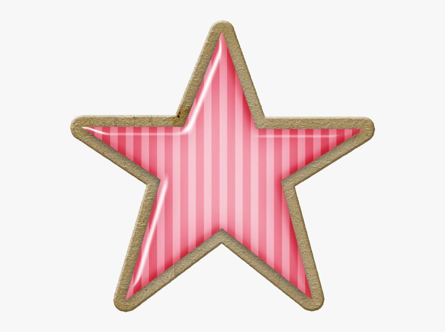 Pink Christmas Star Clip Art, Transparent Clipart