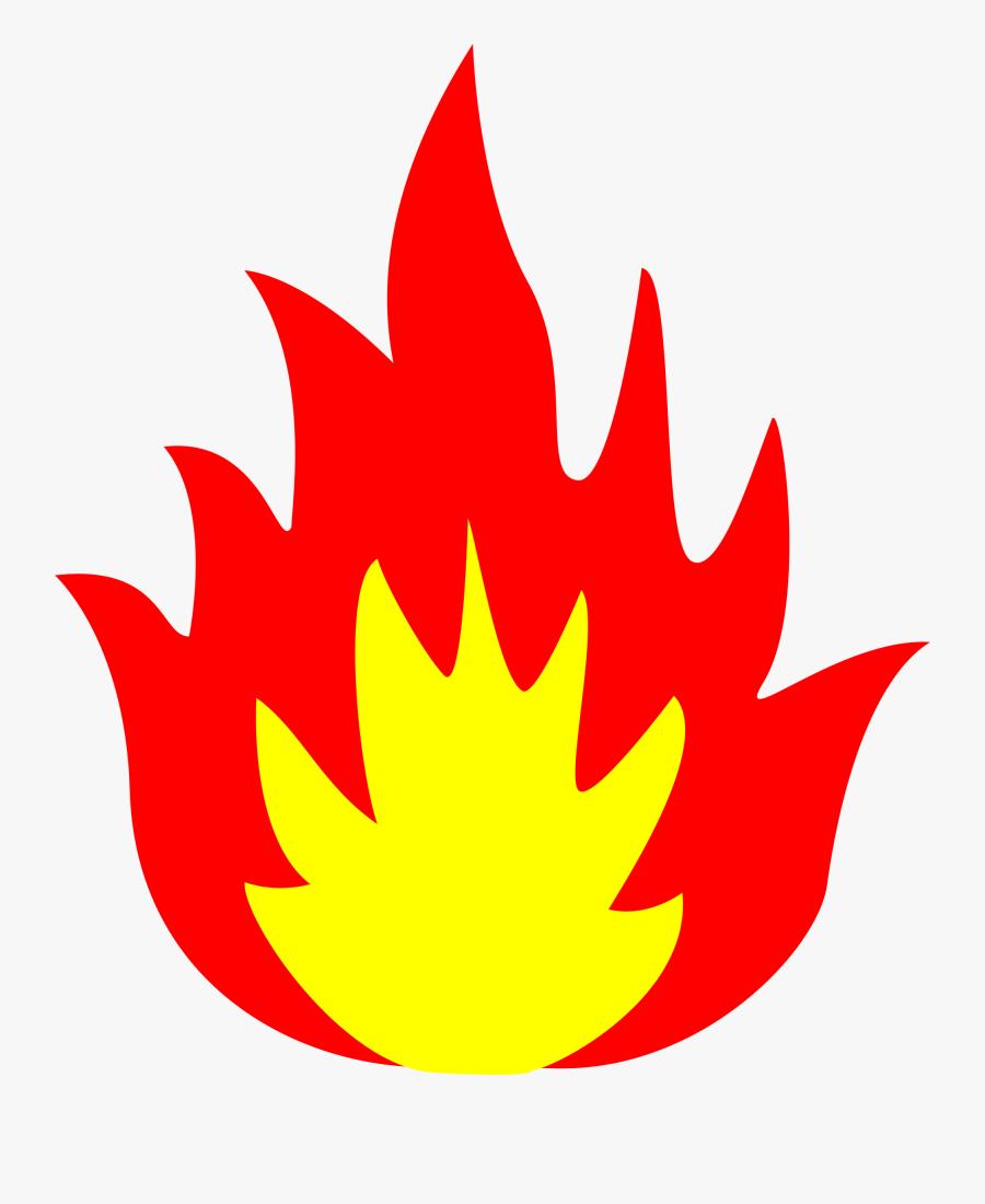 Clipart Flames Single Flame - Flame Fire Clip Art, Transparent Clipart