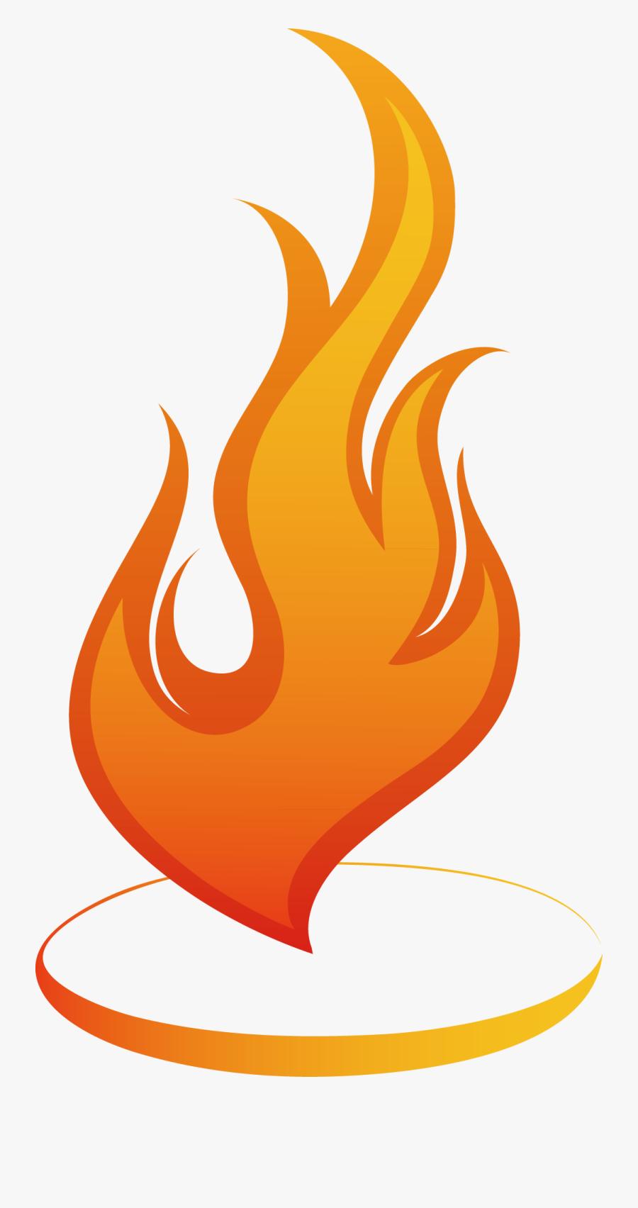 Png Free Download Euclidean Clip Art Fire Heart Decoration - Fire Flame Clip Art, Transparent Clipart