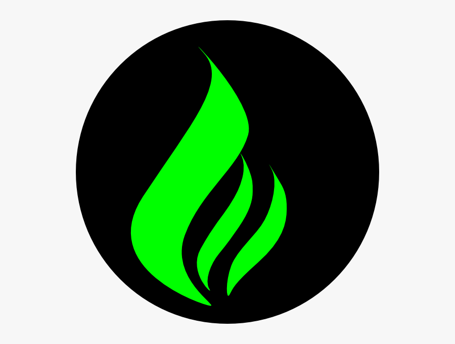 Green Flame Black Clip Art At Clker - Green Flame, Transparent Clipart