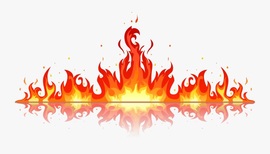 Clip Art Free Flames Font - Fire Clipart, Transparent Clipart
