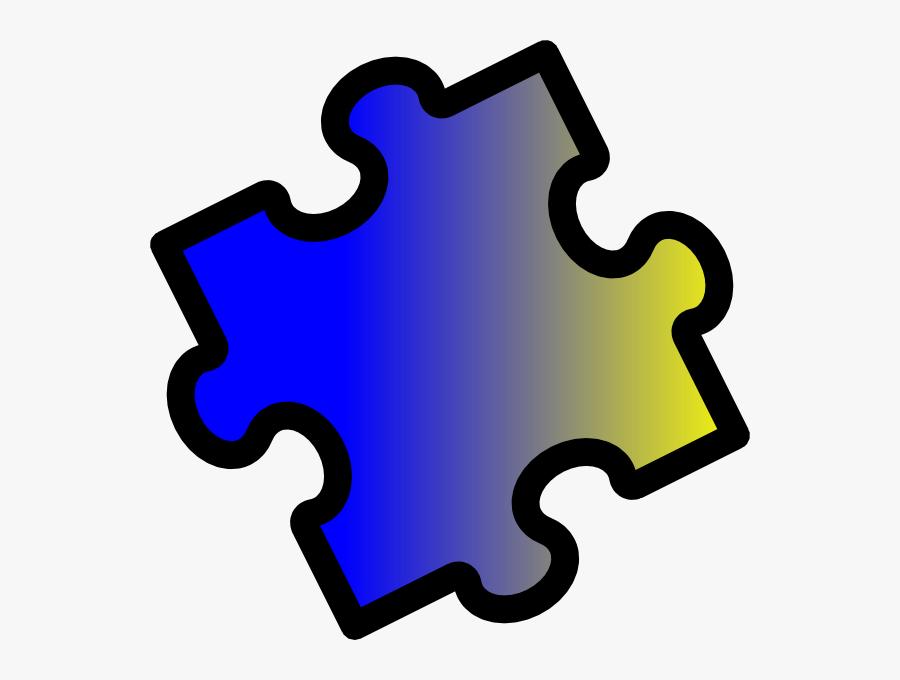 2 Puzzle Pieces Clipart, Transparent Clipart
