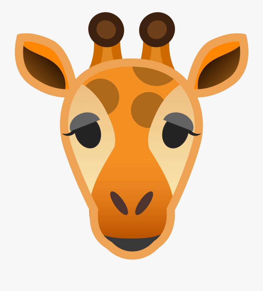Giraffe,giraffidae,clip - Giraffe Head Icon Png, Transparent Clipart