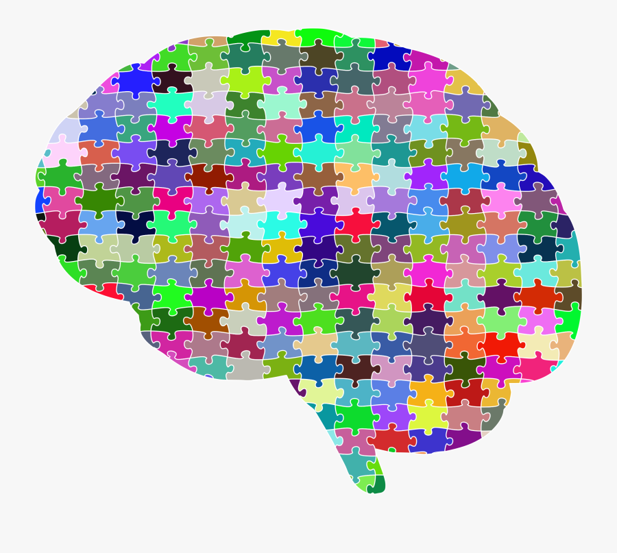 Brain Jigsaw Puzzle Prismatic With Stroke Clip Arts - Jigsaw Brain Png, Transparent Clipart