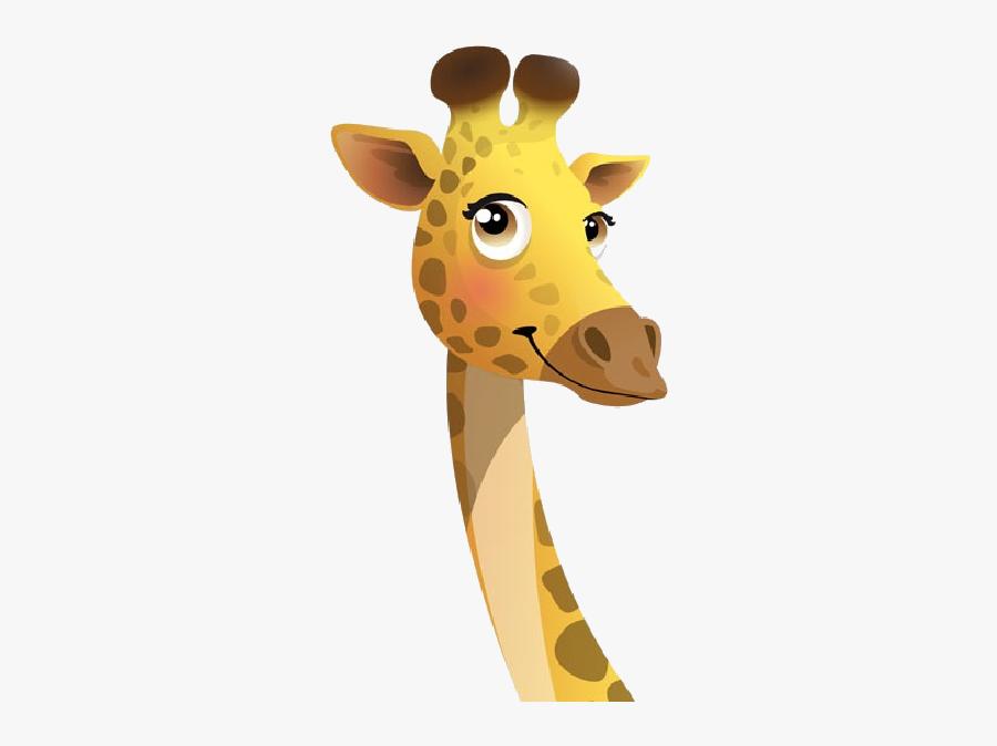 Giraffe Images Clipart - Giraffe Head Png Cartoon, Transparent Clipart