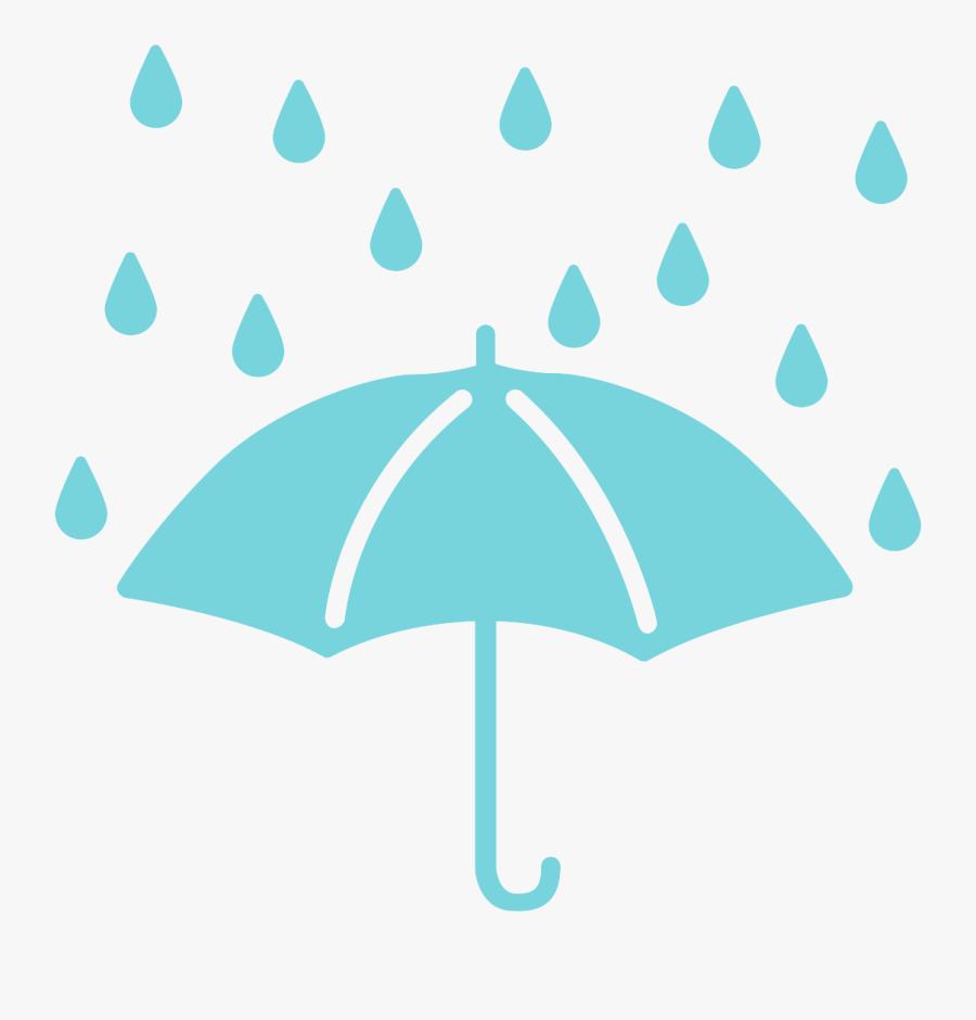 Clip Art Rainy Images - Rain And Umbrella Png, Transparent Clipart