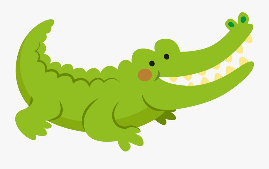 Banner Royalty Free Crocodile Clip Flat - จระเข้ การ์ตูน น่า รัก, Transparent Clipart