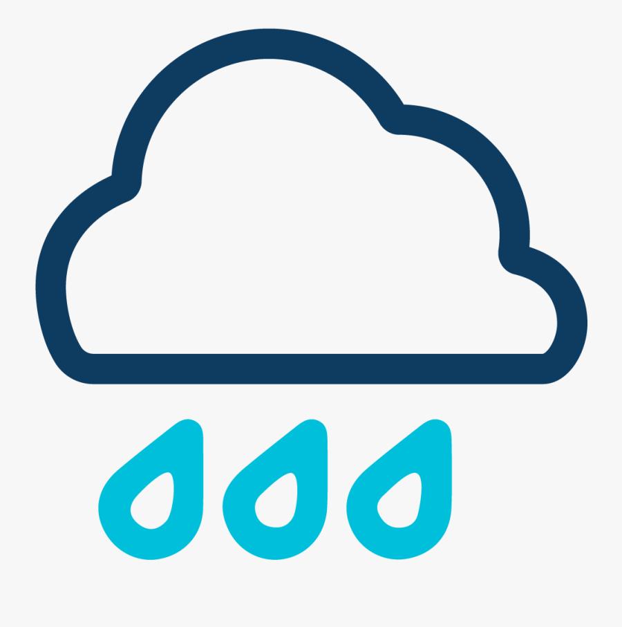 Cloud Rain Icon, Transparent Clipart