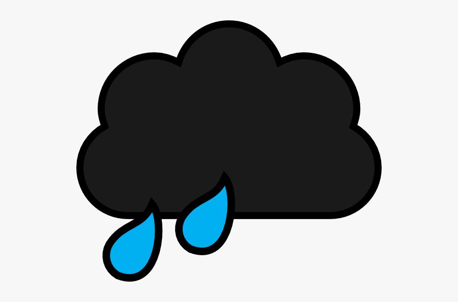 Black Rain Cloud Cartoon, Transparent Clipart