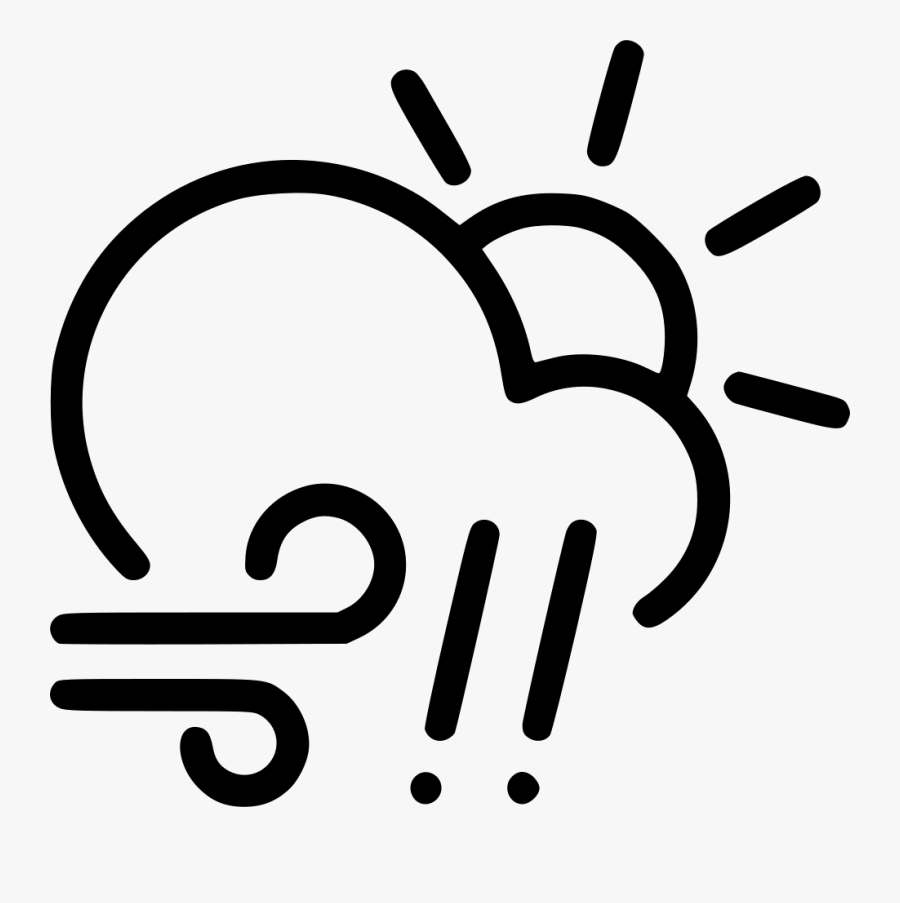 Clipart Sun And Clouds And Rain - Clouds & Rain Clipart Black And White, Transparent Clipart