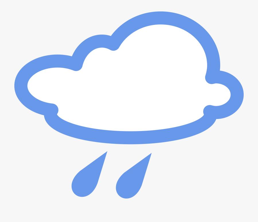 Weather Clipart Chance Rain - Foggy Weather Symbol, Transparent Clipart