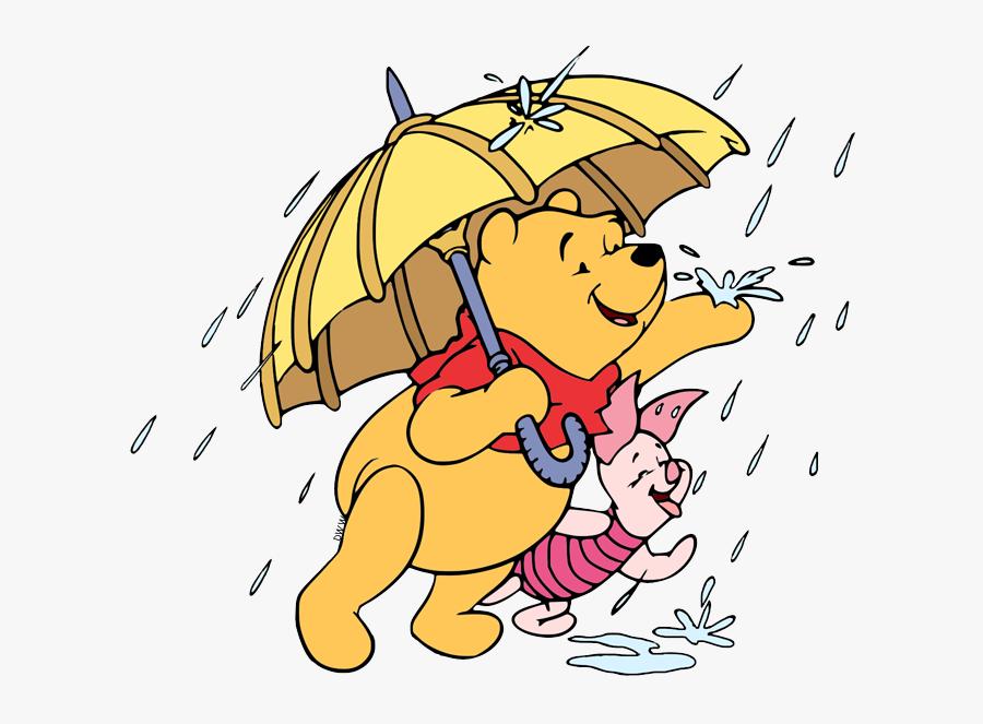 Piglet Winnie The Pooh Rain, Transparent Clipart