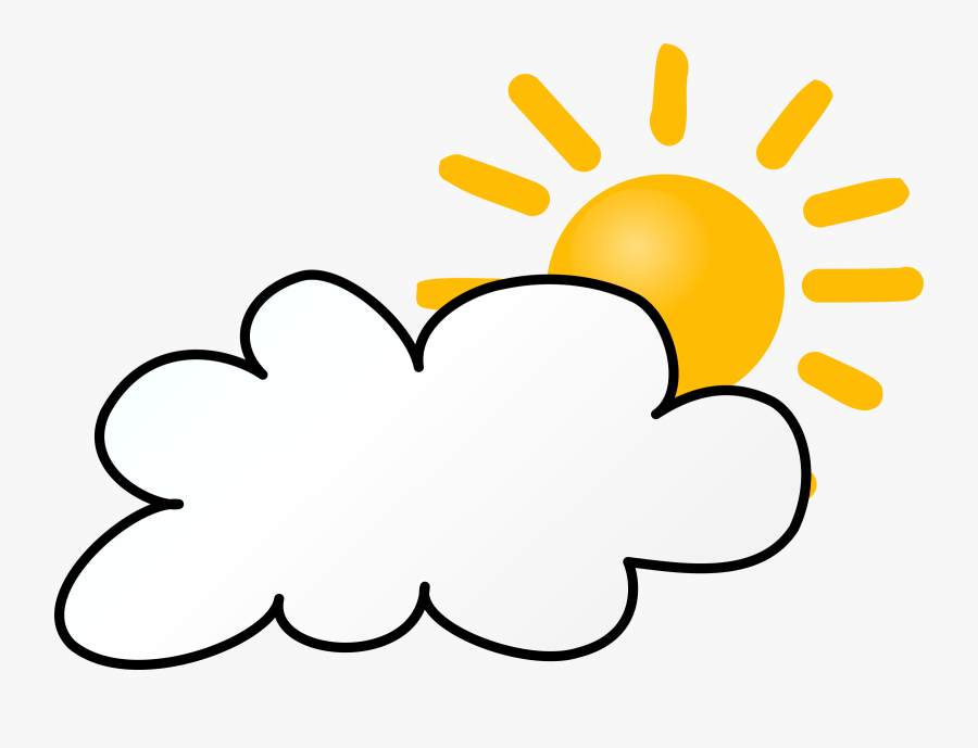 Partly Cloudy Clip Art Partly Sunny Rainy Clipart China - Cloudy Weather Animation, Transparent Clipart