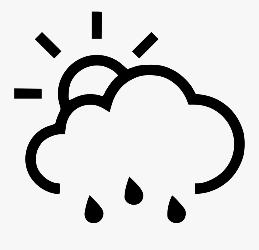 Transparent Sun And Rain Clipart - Clipart Sun With Rain, Transparent Clipart