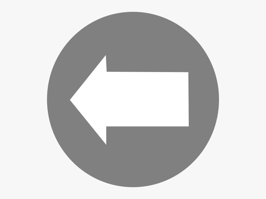 Left White Arrow In Circle Clip Art Free Vector / 4vector - Arrow In Circle Symbol, Transparent Clipart