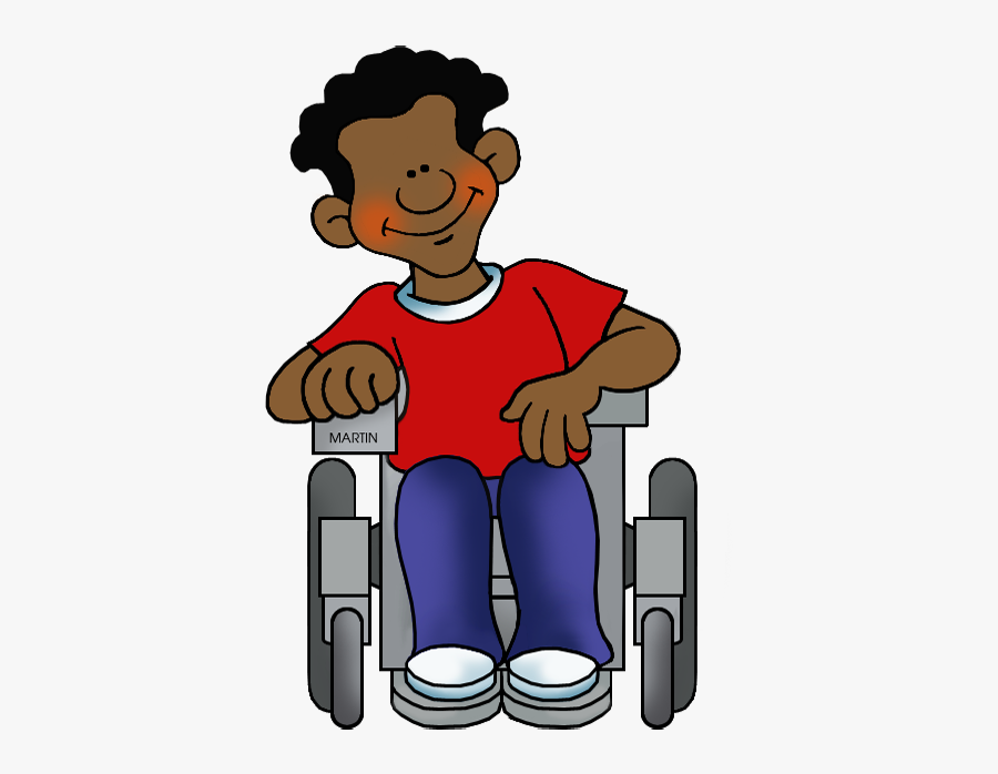 Student In Wheelchair - Person In Wheelchair Clipart, Transparent Clipart