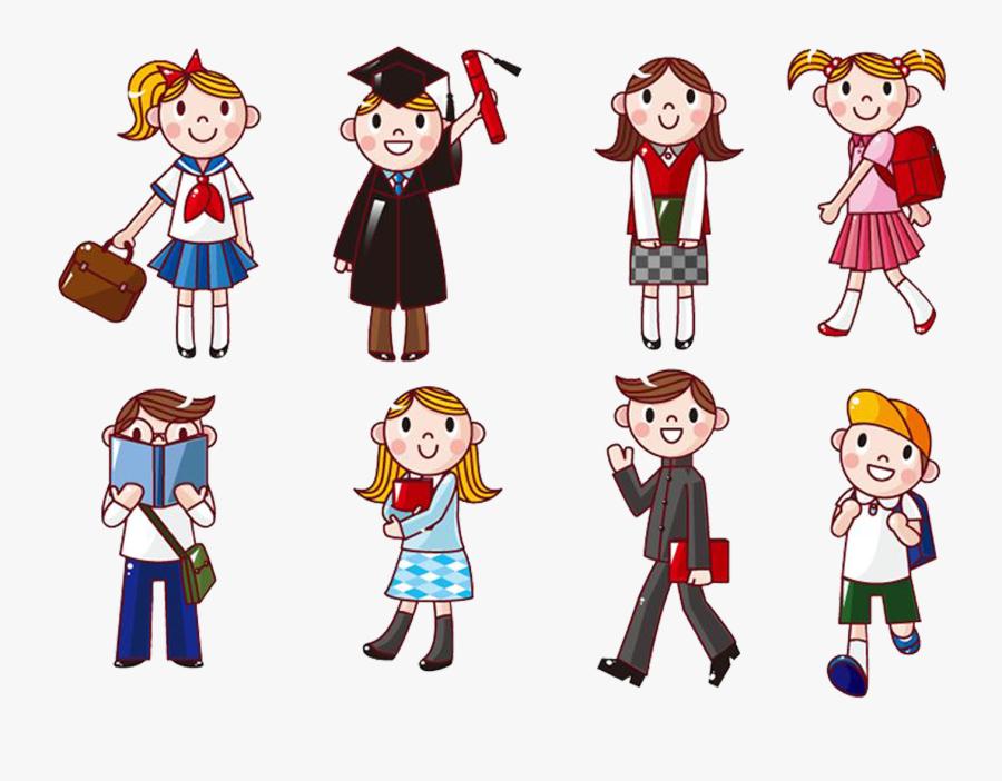 Student Cartoon Computer Icons Clip Art - Students Cartoon, Transparent Clipart