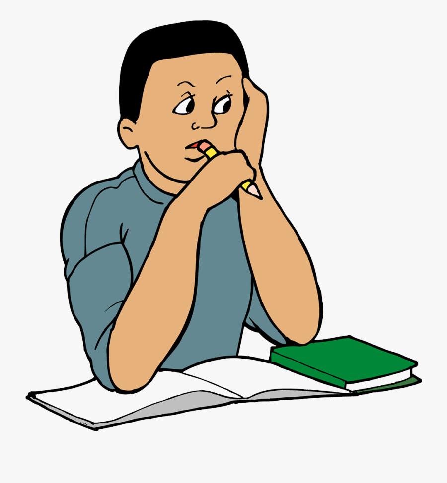 Study Skills Clip Art Child Transprent Ⓒ - Clip Art Png Studying, Transparent Clipart