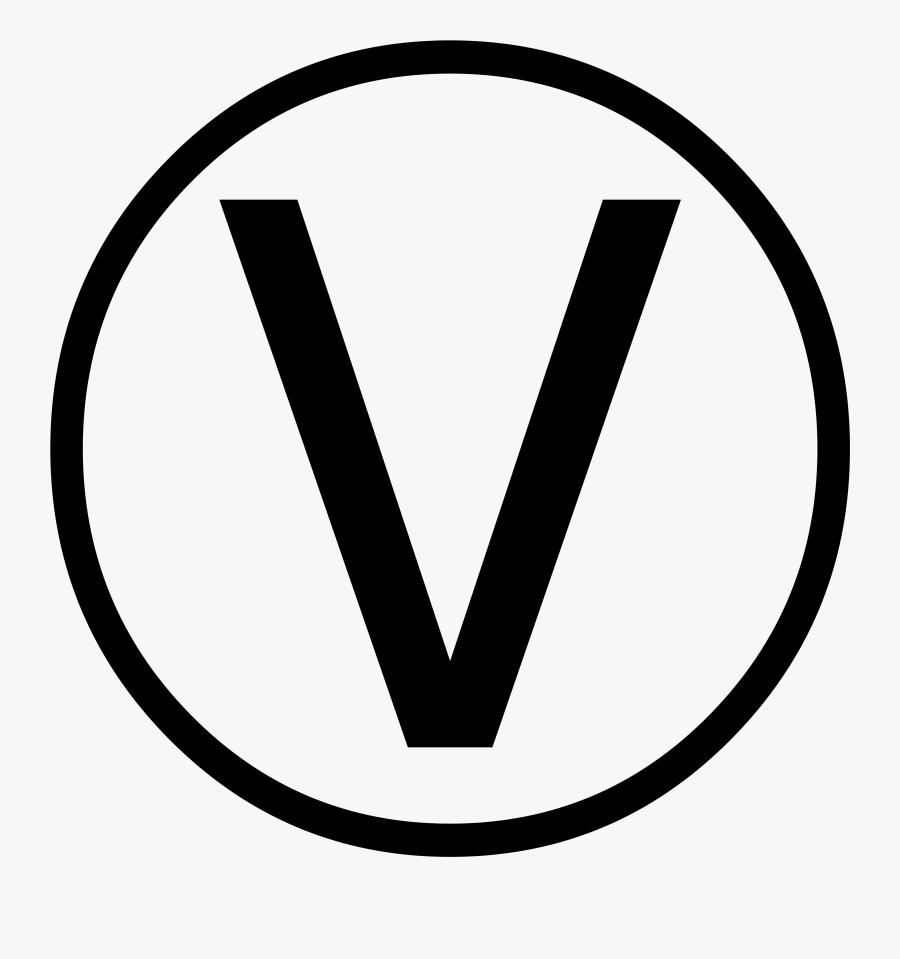 Vegan Symbol For Menu, Transparent Clipart